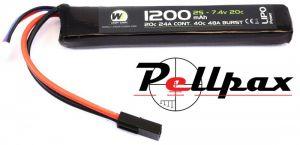 NP Power 1200MAH 7.4v 20c LiPo Stick Type