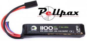 NP Power 1100MAH 7.4v 20c Stick Type