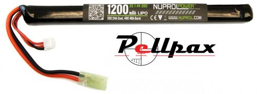 NP Power 1200MAH 7.4v 20c LiPo Slim Stick