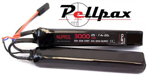 NP Power 3000MAH 7.4v 20C LiPo Nunchuck Type