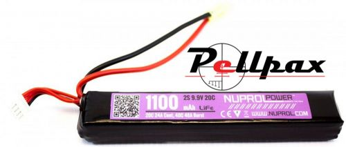 NP Power 1100MAH 9.9v 20C Li-Fe Slim Stick Type