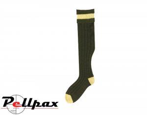 Stockings Olive/Mustard Socks by Bisley