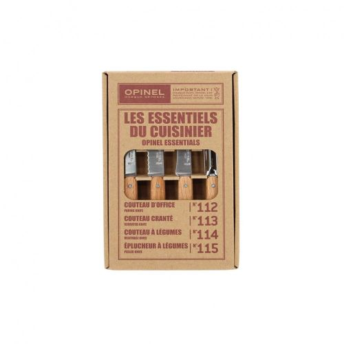 Opinel Beech Wood 4 Piece Kitchen Knife Set