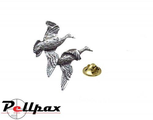 Pewter Pin Pair of Ducks - Ex Display