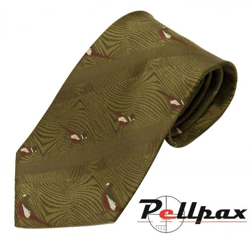Pheasants Polyester Tie by Bisley