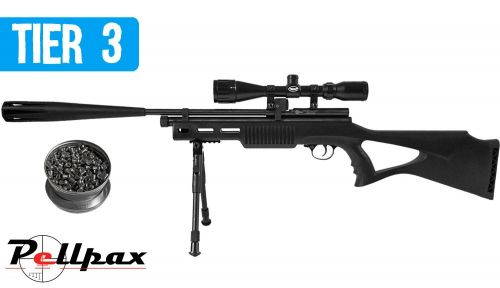 Pellpax Rat Sniper Tactical Extreme CO2 Air Rifle Kit .22