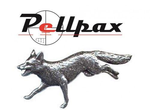 Pewter Pin Running Fox