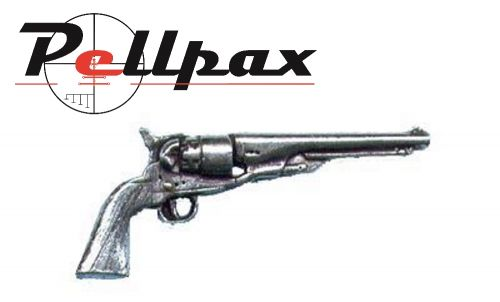 Pewter Pin Antique Revolver