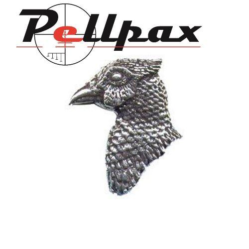 Pewter Pin Pheasant's Head