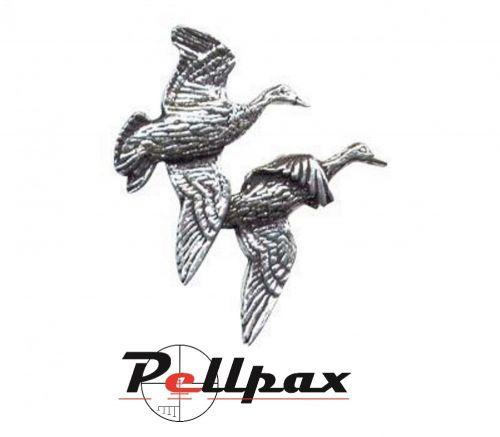 Pewter Pin Pair of Ducks