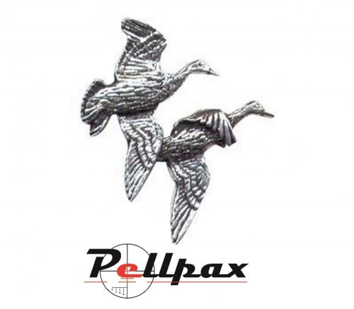 Pewter Pin Pair of Ducks