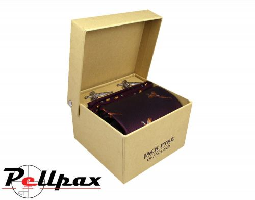 Jack Pyke - Cufflinks, Tie & Hanky Gift Set - Pheasant Wine