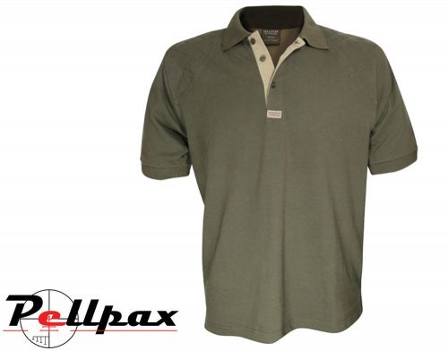 Sporting Polo Shirt By Jack Pyke in Green