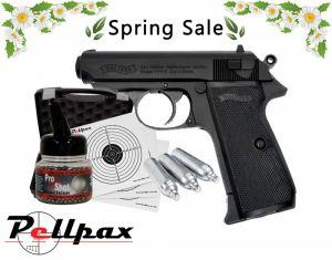 Walther PPK/s Full Pistol Kit - 4.5mm BB Air Pistol