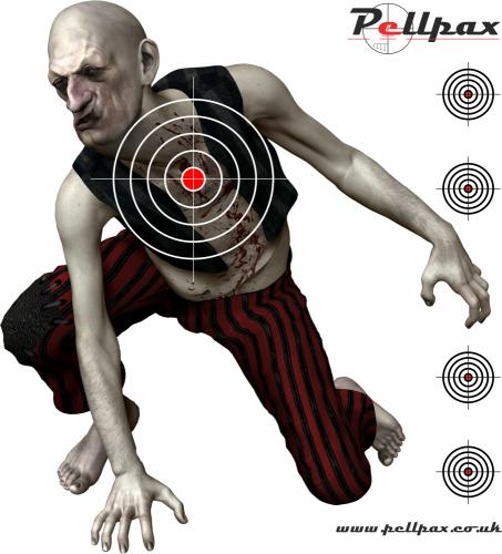 Zombie Targets 17x17 cm