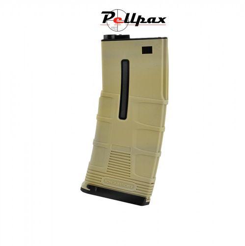 ICS M4/M16 T-Mag Plastic Mid-Cap Magazine Tan - 180 Rounds