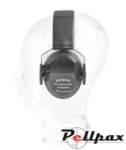Deben Slim Electronic Ear Defenders - Black