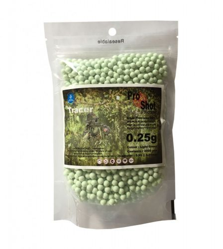 ProShot Tracer 6mm BBs - 0.25g - 2000pcs Bag