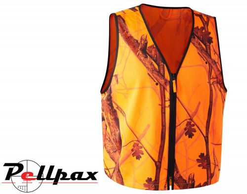 Protector Waistcoat Pull-Over in Orange GH Camo by Deerhunter