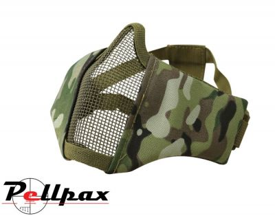 Kombat UK Recon Airsoft Face Mask: BTP Camo / Black / Coyote