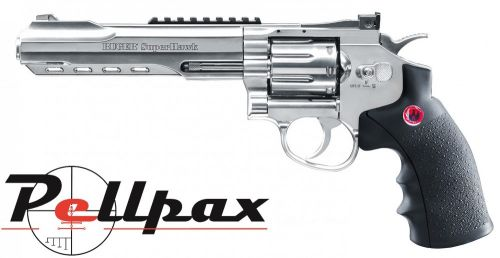 "Ruger Super Hawk 6"" Chrome CO2 6mm Airsoft"