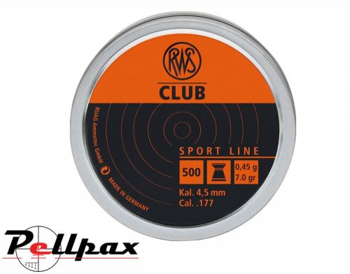 RWS Club .177 Pellets x 500