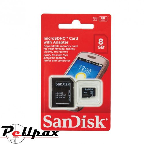 SanDisk 8gb Micro SD Card inc Adaptor