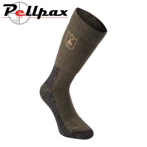 Short Deluxe Wool Socks in Green By Deerhunter
