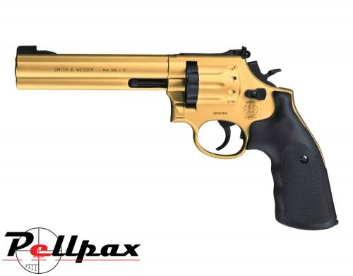 "Smith & Wesson 686 6"" Gold - .177 Pellet Air Pistol"
