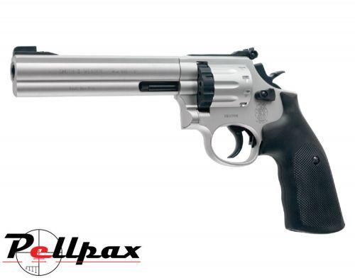 "Smith & Wesson 686 6"" Nickel - .177 Pellet Air Pistol"
