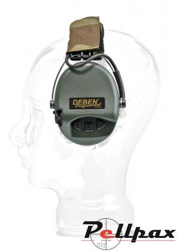 Deben Supreme Pro X Electronic Ear Defenders - Camouflage Headband