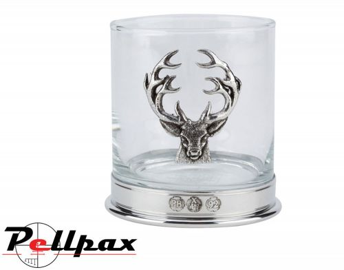 English Pewter Whisky Glasses By Bisley