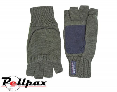 Suede Palm Shooters Mitts By Jack Pyke in Green