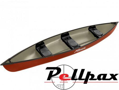 Sun Dolphin Scout Elite 14' Canoe - Hazelnut Red