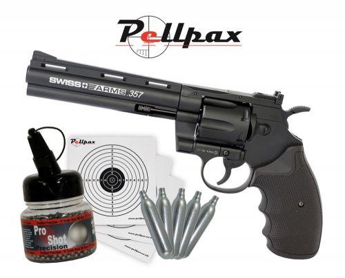 "Swiss Arms .357 6"" Black - 4.5mm BB - Kit"