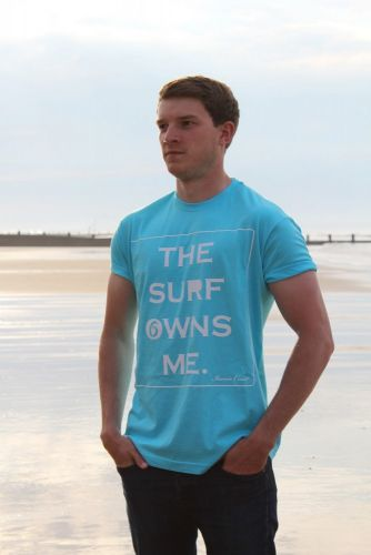 Iconic Coast The Surf Owns Me Tee - Blue Atoll