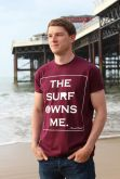 Iconic Coast The Surf Owns Me Tee - Burgundy