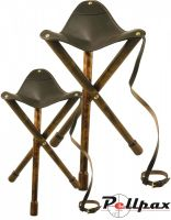 Tripod Leather Stool