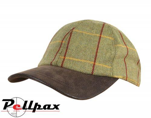 Wool Blend Baseball Cap By Jack Pyke in Green Tweed