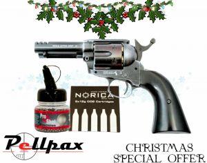 """Umarex Colt Peacemaker SAA 3.5"""" Custom Shop + FREE CO2 & BBs - 4.5mm BB Air Pistol"""