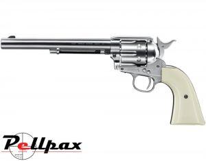 "Umarex Colt Peacemaker SAA 45 7.5"" Nickel - .177 Pellet Air Pistol"