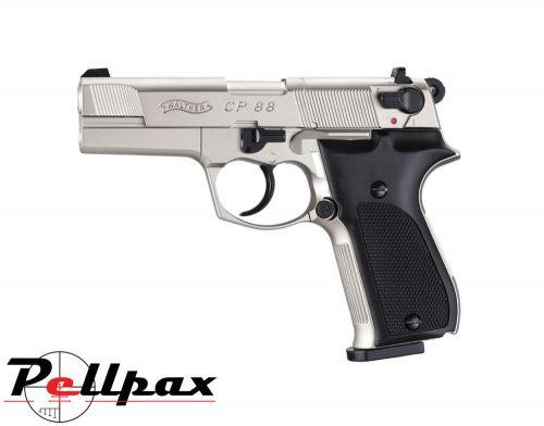 "Walther CP88 4"" Nickel - .177 Pellet Air Pistol"