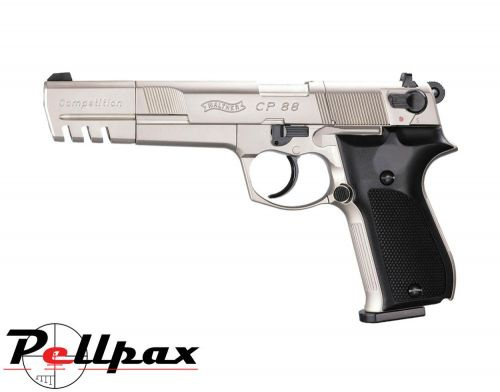 "Walther CP88 6"" Nickel Competition - .177 Pellet Air Pistol"