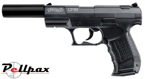 Walther CP99 Black with Silencer - .177 Pellet