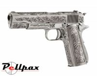 WE 1911 Chrome Etched Special Edition - Gas 6mm Airsoft