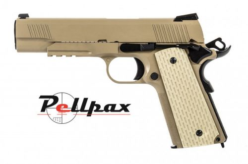 WE 1911 Kimber Style 6mm Airsoft - Tan