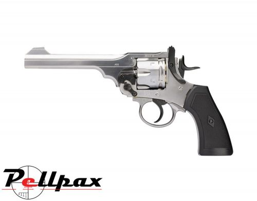 Webley MKVI Service Revolver Silver Finish - .177 Pellet Air Pistol