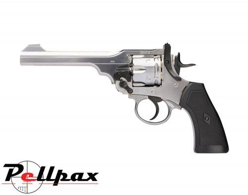 Webley MKVI Service Revolver Silver Finish - 4.5mm BB Air Pistol