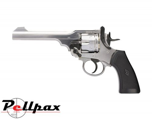 Webley MKVI Service Revolver Silver Finish - 4.5mm BB Air Pistol
