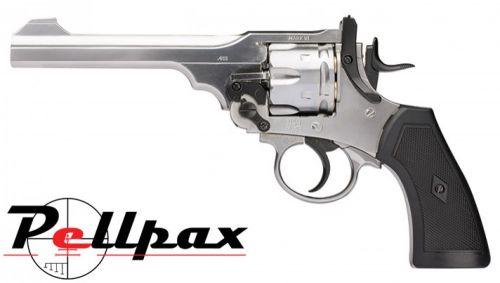 Webley MKVI Service Revolver Silver Finish - 4.5mm BB